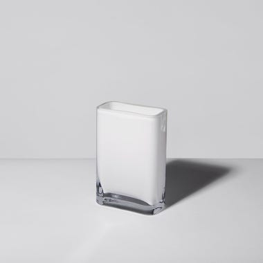 LSA International Modular White Vase 4x6