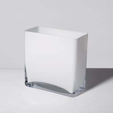 LSA International Modular White Vase 8x8