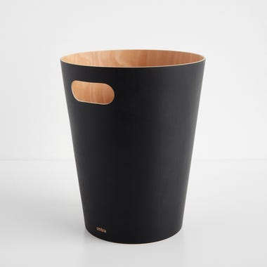 Woodrow Black Waste Bin