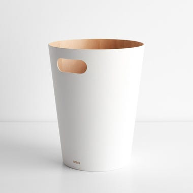Woodrow White Waste Can
