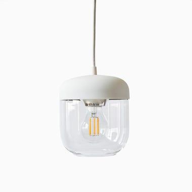 Acorn White Pendant & Canopy