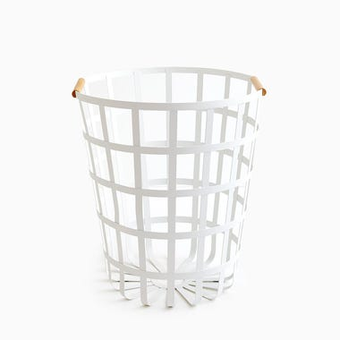 Tosca White Round Laundry Basket