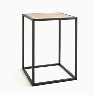 Tower Black Side Table