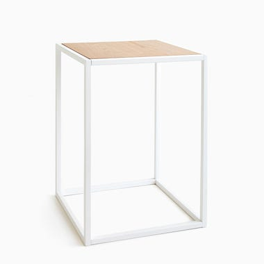 Tower White Side Table