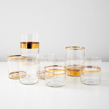 LSA International Deco Gold Tumblers Set of 8