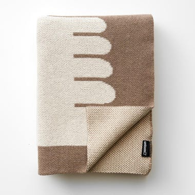 Dove Natural Knit Throw Blanket