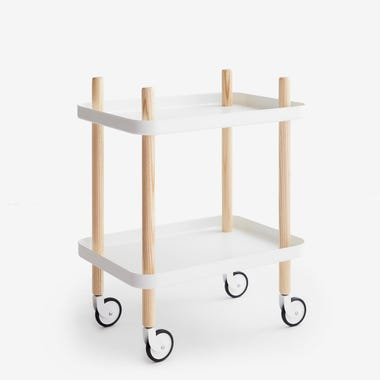 Block Cart White