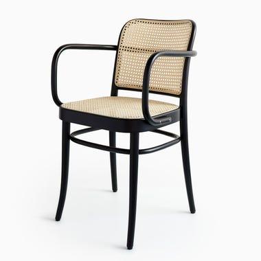 811 Black Cane Armchair