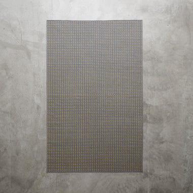 Stitch Gray Flatweave Rug 4' x 6'