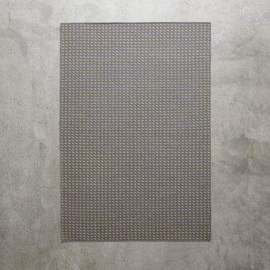 Stitch Gray Flatweave Rug 5' x 8'