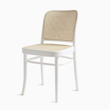 811 White Cane Chair