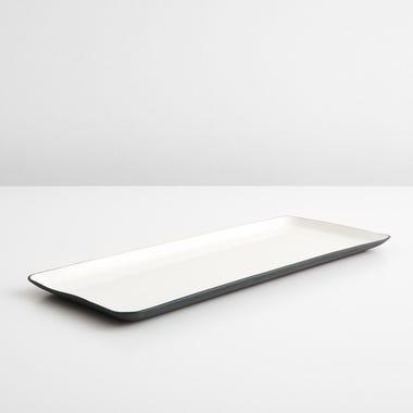 Enamel Matte Black Rectangular Platter