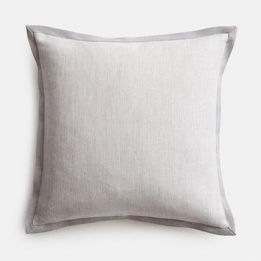 """Edge Stone + Gray Throw Pillow Cover 17"""" x 17"""""""