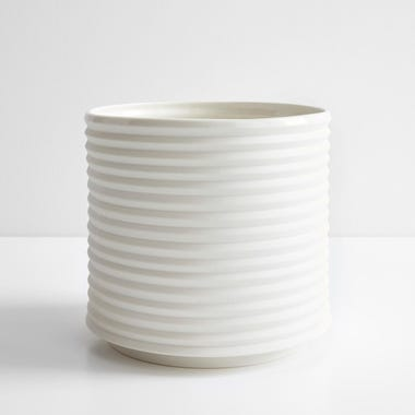 Oblique White Planter