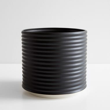 Oblique Black Planter