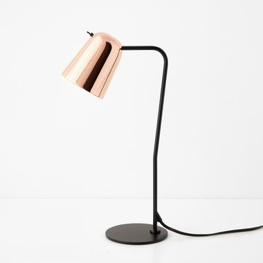 Canal Black and Copper Table Lamp