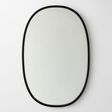 "Hub Black Oval Mirror 24"" x 36"""