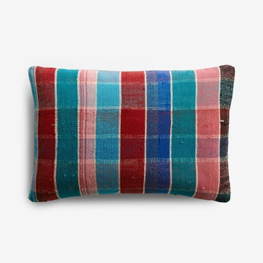 "Talman Plaid Throw Pillow Cover 12"" x 18"""