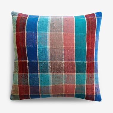 "Talman Plaid Throw Pillow Cover 17"" x 17"""
