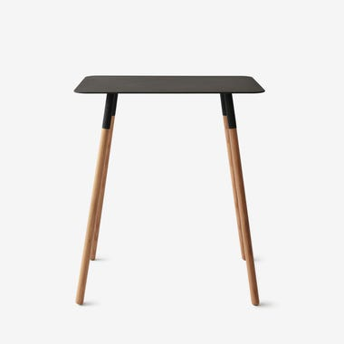 Quad Black Rectangular Side Table