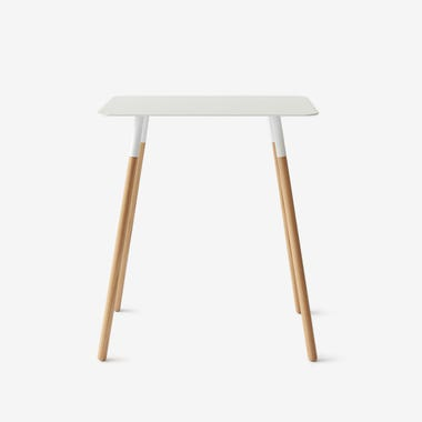 Quad White Rectangular Side Table