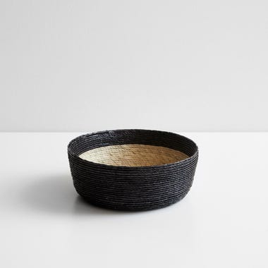 Black Band Round Basket 8""
