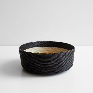 Black Band Round Basket 10""