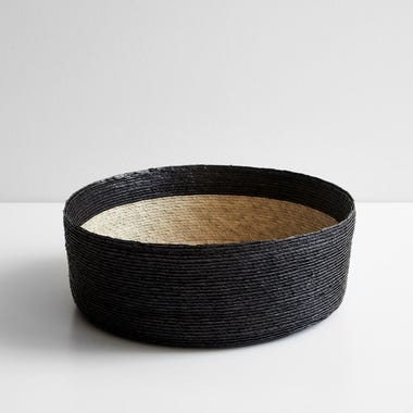 Black Band Round Basket 12""