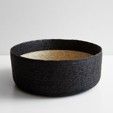 Black Band Round Basket 14""