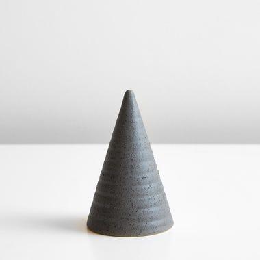 Ridged Slate Small Glazed Cone
