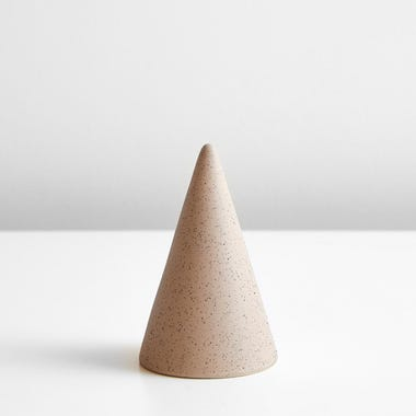 Speckled Blush Small Glazed Cone