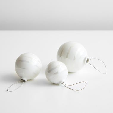 Omaggio Pearl Ornament Set of 3