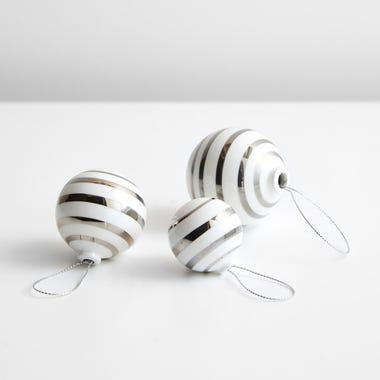 Omaggio Silver Ornament Set of 3