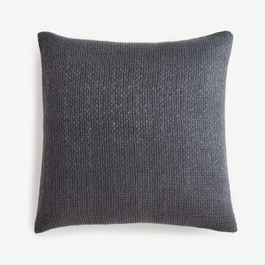 "Filigree Graphite Linen Throw Pillow Cover 20"" x 20"""