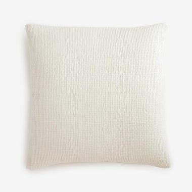 "Filigree White Linen Throw Pillow Cover 20"" x 20"""