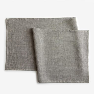 Etoile Flax and Silver Table Runner
