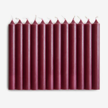 Taper Candle Bordeaux Set of 12