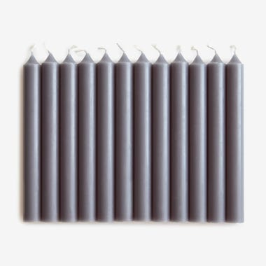 Taper Candle Zinc Set of 12