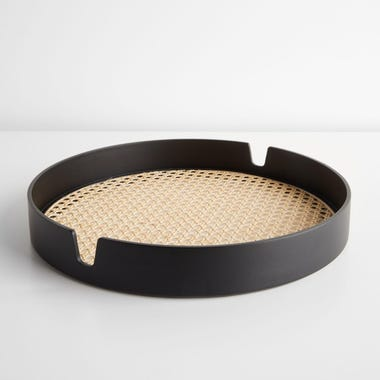 Salon Black Tray 15.75""