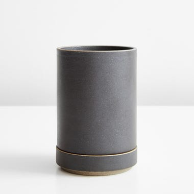 Hasami Black Small Planter And Saucer Set