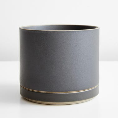 Hasami Black Large Planter And Saucer Set