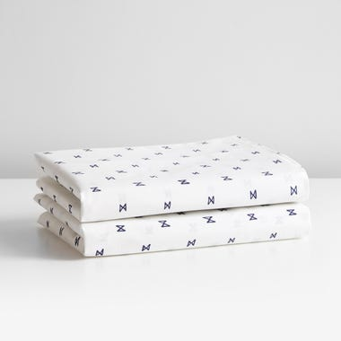 Sashi Geo Navy Sheets