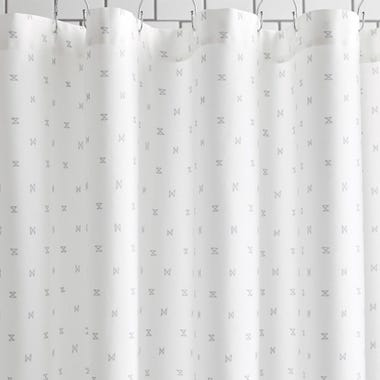 Sashi Geo Gray Shower Curtain
