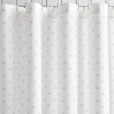 Sashi Geo Gray Shower Curtain