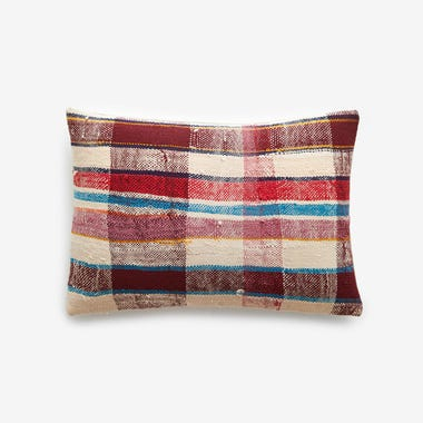 "Hobart Plaid Throw Pillow Cover 12"" x 18"""