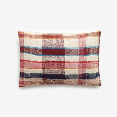"Hobart Plaid Throw Pillow Cover 12"" x 18"" #6"