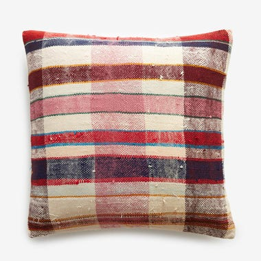 "Hobart Plaid Throw Pillow Cover 17"" x 17"""