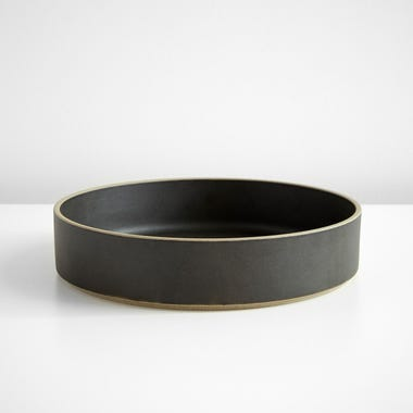 """Hasami Black Bowl 10"""""""