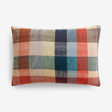 """Wilfred Plaid Throw Pillow Cover 12"""" x 18"""""""