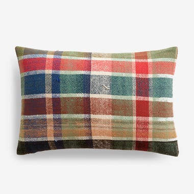 "Elliott Plaid Throw Pillow Cover 12"" x 18"""